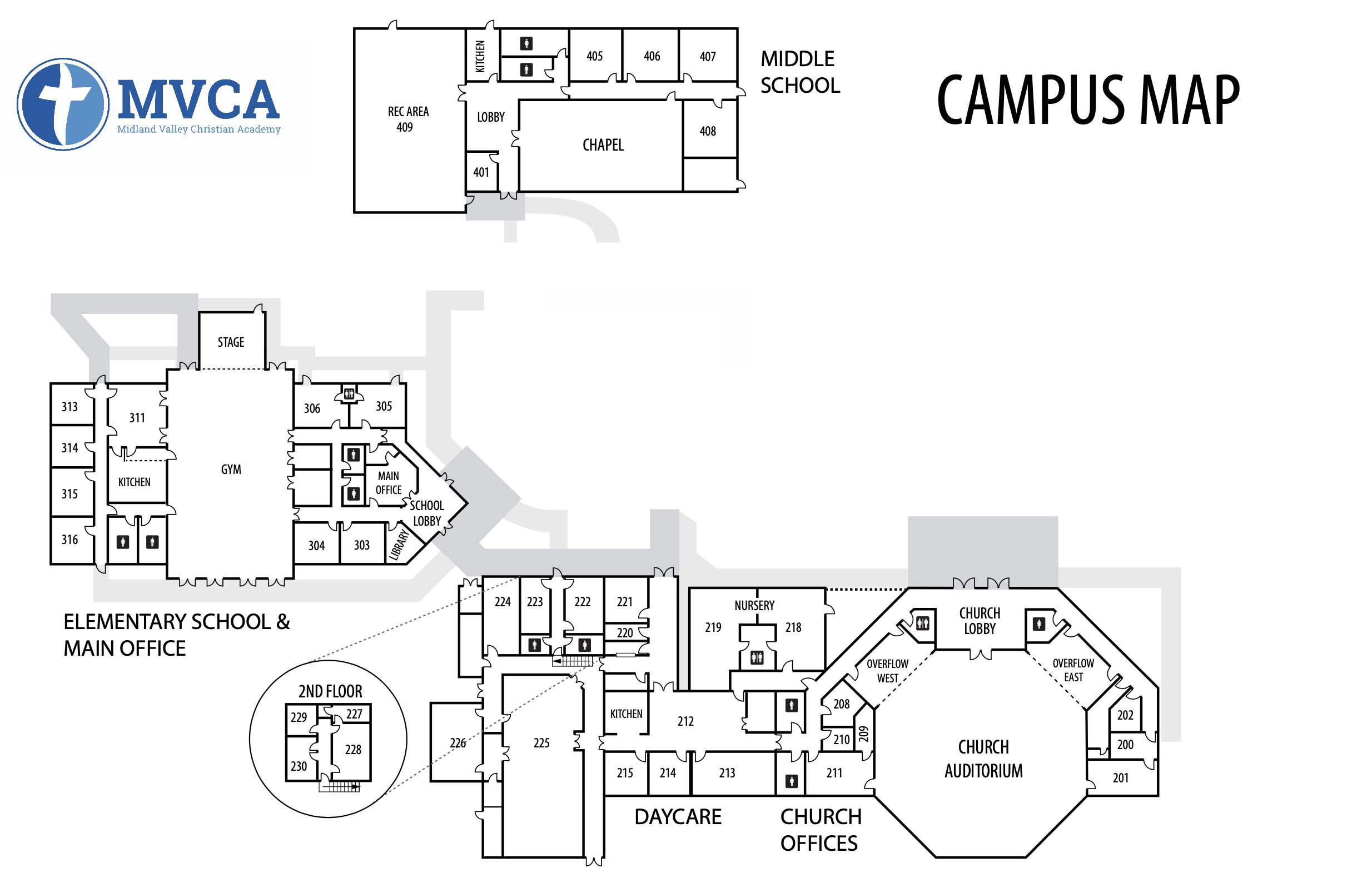 MVCA campus map